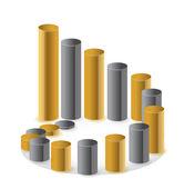 Golden circular business chart — Stock Photo