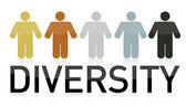 Diversity illustration design and text — Stock Photo