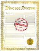 Отклоненные разводе документы. Иллюстрация дизайн — Стоковое фото