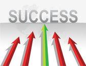 商务箭头目标成功的插图设计 — 图库照片