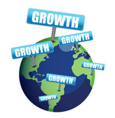 Growth globe illustration design — Stock Photo
