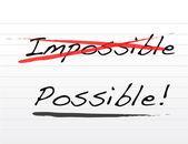 Attraversando impossibile e scrittura possibili — Foto Stock