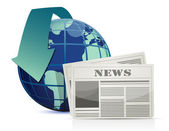 International news illustration design over white — Stock Photo