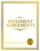 Investment Agreement document paper work illustration — Stock Photo