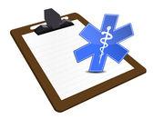 Medical Clipboard illustration design — Stock Photo