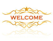 Welcome sign design illustration — Stock Photo