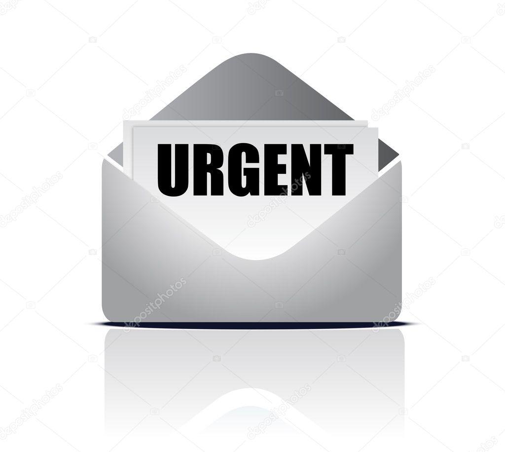 urgent delivery concept with envelope letter or mail and With urgent letter envelopes