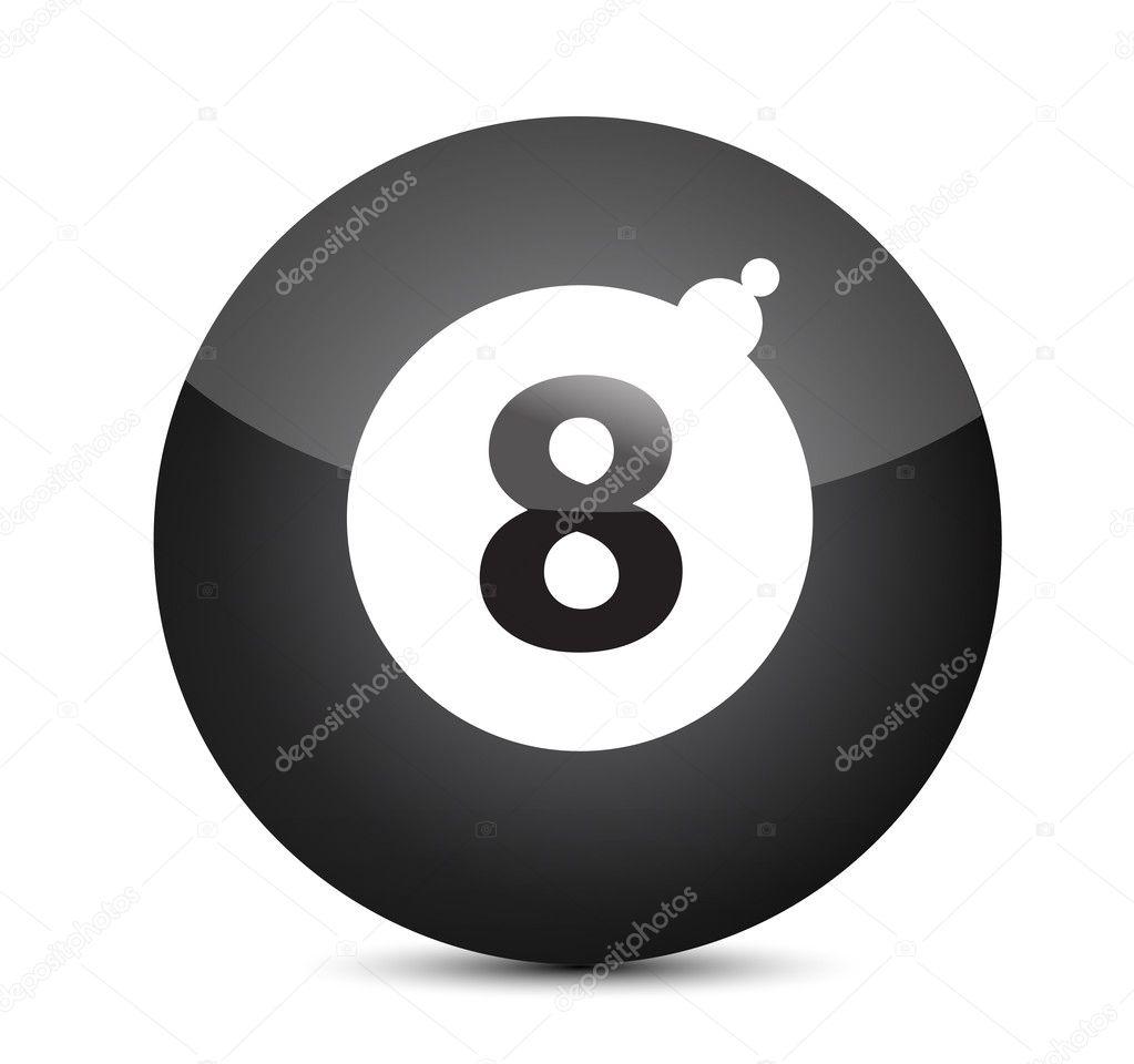 Illustration de chiffre porte bonheur huit ball for Chiffre 7 porte bonheur