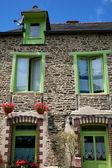 Traditional breton houses — Stock Photo