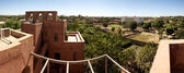 Panoramic view of Moroccan architecture in Mopti Dogon Land — Stock Photo