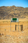 Petrol station in the desert — Stock Photo