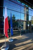 Bandeiras de europa e polonês — Fotografia Stock