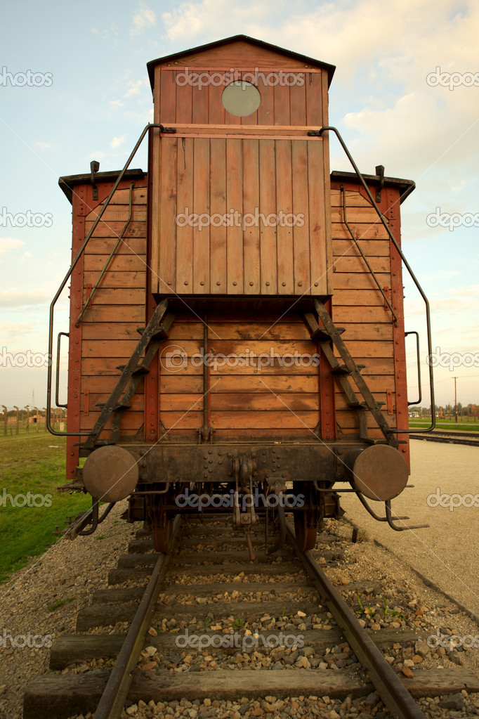 Train wagon in Auschwitz Birkenau concentration camp  — Stock Photo #7362449