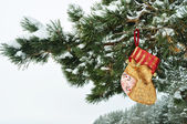 Christmas Decoration, for gifts, horizontal, close-up — Stock Photo