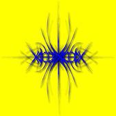 Fantastico blu astrazione delle linee sul giallo — Vettoriale Stock