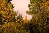 Italian panorama tower of castle — Stock Photo