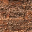 Royalty-Free Stock Photo: Old brick brown wall is closeup