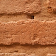 Old brick brown wall is closeup — Stock Photo