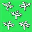 Collection of Branch trees silhouettes — Stock Vector