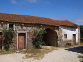 Old farm buildings in Fatima Portugal — Stock Photo