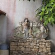 Decoration on the wall farmhouse niedaleiko Fatima in Portugal — Stock Photo