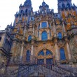 Stock Photo: Cathedral of St. James in Santiago de Compostelin Spain