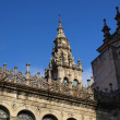 Fragment of the tower of the cathedral of Santiago de Compostela — Stock Photo
