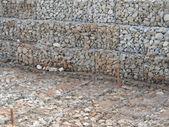 背景としてメッシュのための石 — ストック写真