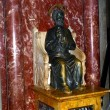 Saint Peter on throne, sculpture in Lourds — стоковое фото #7424309