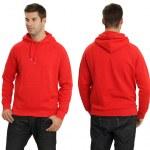 Male wearing blank red hoodie — Stock Photo #6755900