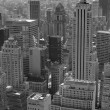 New York city black and white - Stock Photo