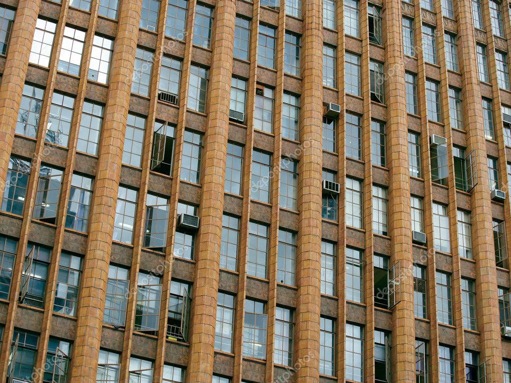 The windows of an old urban office building. — Stock Photo #7156167