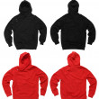 Blank hoodie sweatshirts - Stock Photo