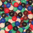 Poker chips background - Stock Photo