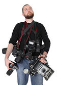Serious photographer — Stock Photo