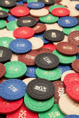 Plenty of poker chips — Stock Photo