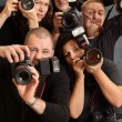 Stock Photo: Crazy photographers