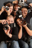 Crazy photographers — Stock Photo