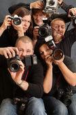 Crazy photographers — Stock Photo