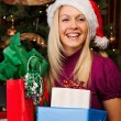Happy at Christmas time — Stock Photo