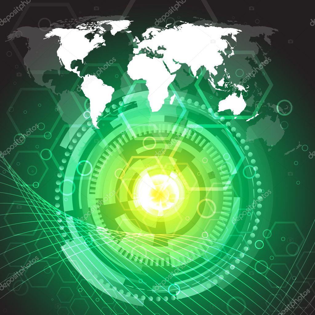 Hi tech vector background stock illustration