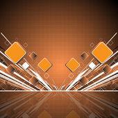 Pomarańczowy kwadrat tło — Wektor stockowy