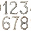 Royalty-Free Stock Photo: Metal numbers
