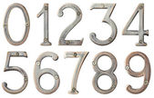Metal numbers — Stock Photo