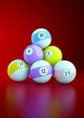 Sports illustration with billiard balls — Stock Photo