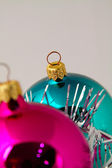 Christmas balls on the tree — Stock Photo