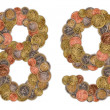Numbers 0 and 1 made of Euro coins — Stock Photo #7411667