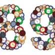 Numbers 8 and 9 made of various clocks — Stock Photo #7533843