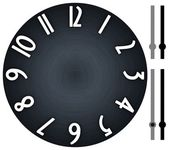 Modern clock with dark, brushed metal background — Stock Photo