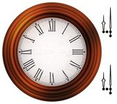 Old fashioned clock with roman numbers — Stock Photo